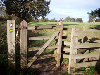 "alt=""kissing gate into heavenfield"""