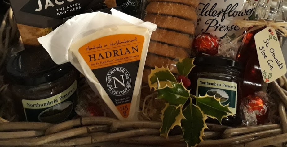 "alt=""locally produced welcome hamper sustainable rural tourism"""