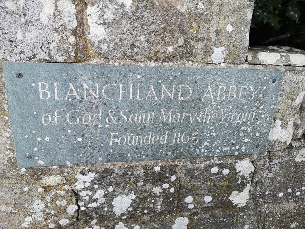 "alt=""rediscovering blanchland abbey stone sign"""