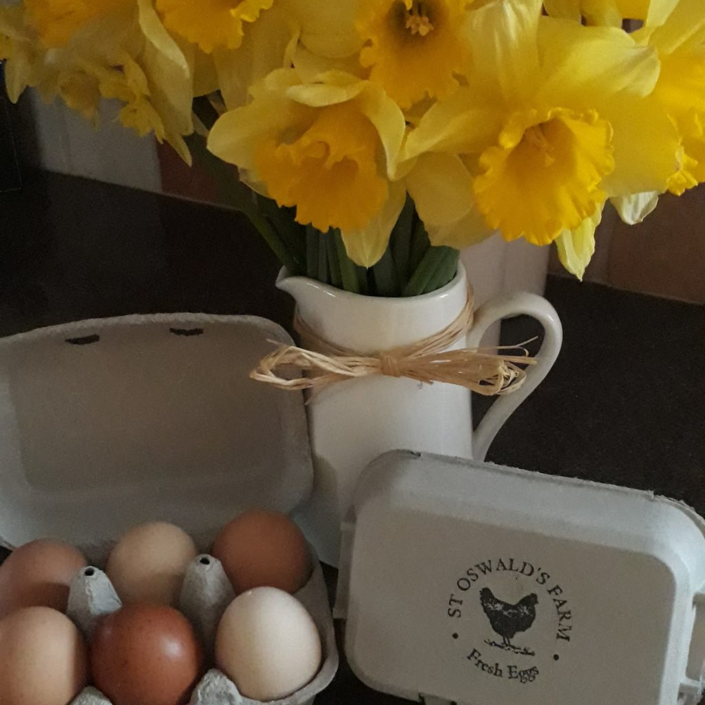 """alt+2Produced in Northumberland eggs and egg box from St Oswald's Farm"""""""
