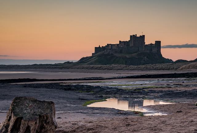 "alt=""Bamburgh castle king of castles in Northumberland"""