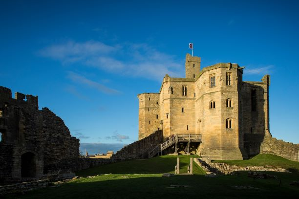 "alt=""Warkworth Castle in Northumberland king of castles"""