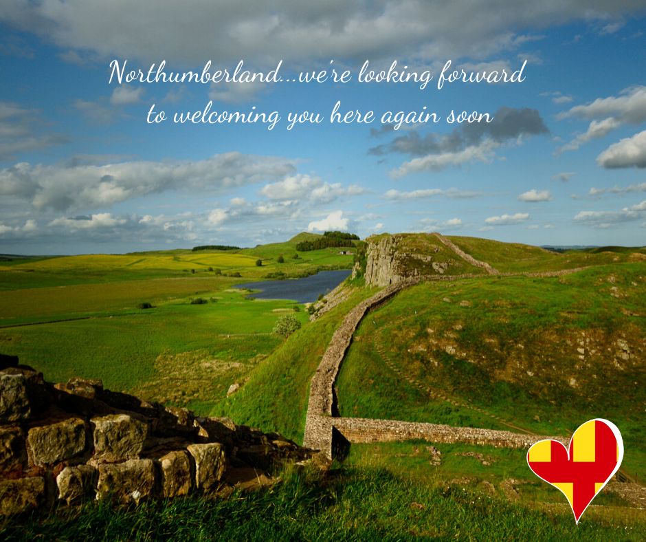 "alt=""Hadrians wall image king of castles Northumberland"""